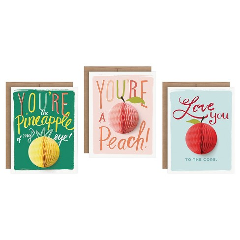 """3ct """"Love You"""" Pop-up Greeting Cards - image 1 of 4"""