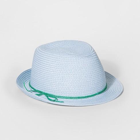 04772d6c65c Girls  Wood Beads Band Fedora Hat - Cat   Jack™ Light Blue   Target