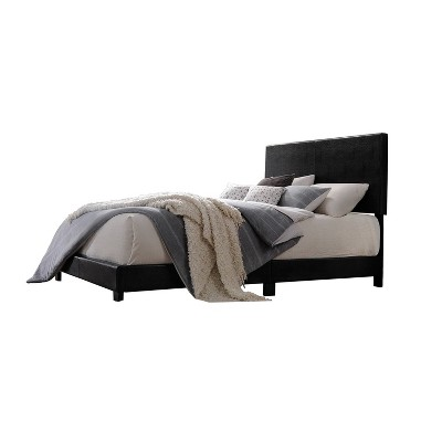 Lien Queen Bed Black Faux Leather - Acme Furniture