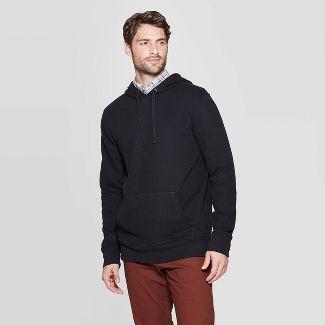 Men's Regular Fit Ultra-Soft Fleece Hooded Pullover Sweatshirt - Goodfellow & Co™ Black S