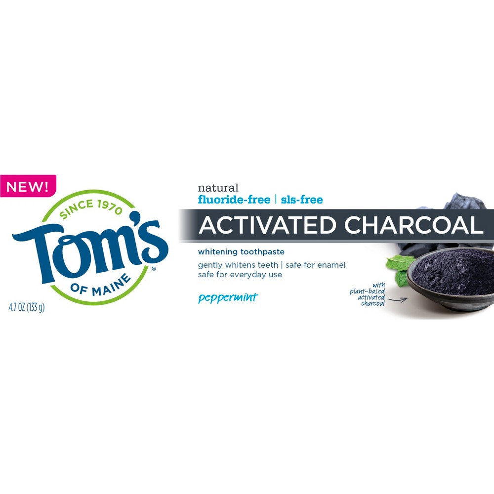 Image of Tom's of Maine Charcoal Fluoride Free Toothpaste - 4.7oz
