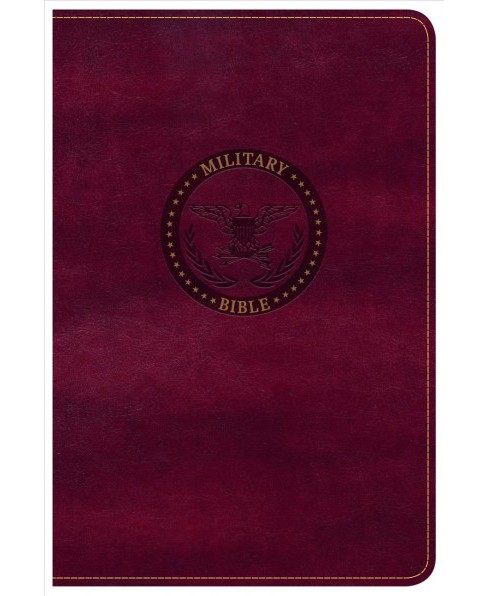 Holy Bible : Christian Standard Bible, Burgundy Leathertouch, Military Bible (Compact) (Paperback) - image 1 of 1