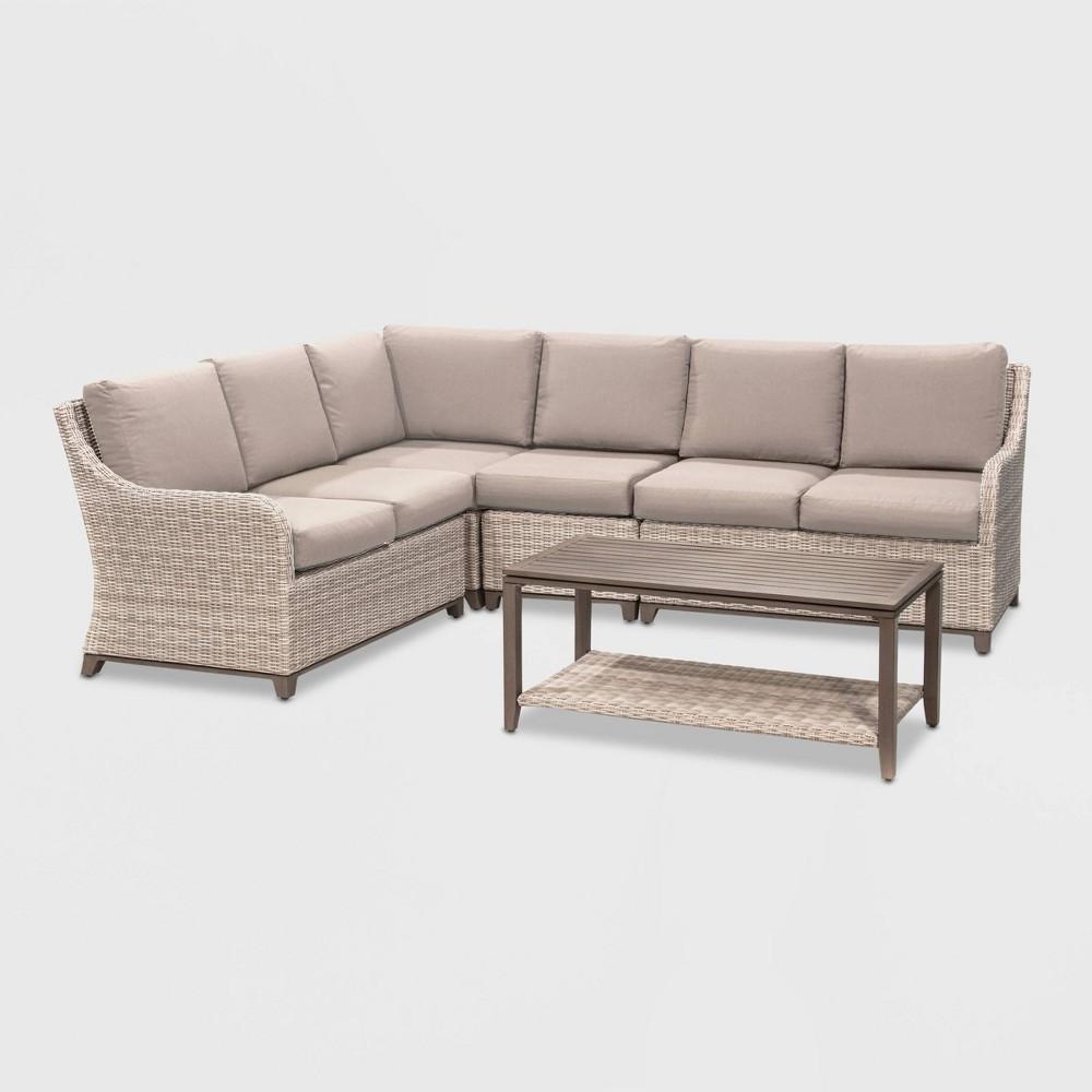 Hampton 5pc Patio Seating Set - Tan - Leisure Made