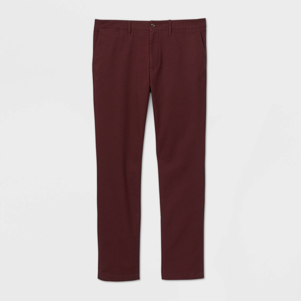 Men 39 S Big 38 Tall Slim Fit Hennepin Chino Pants Goodfellow 38 Co 8482 Red Wine 48x34