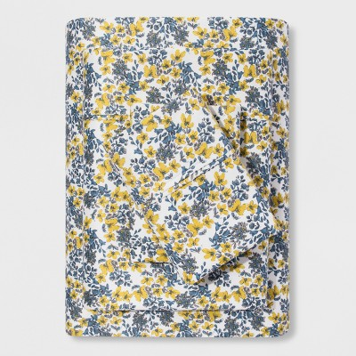 Performance Sheet Set (Queen)Yellow Floral 400 Thread Count - Threshold™