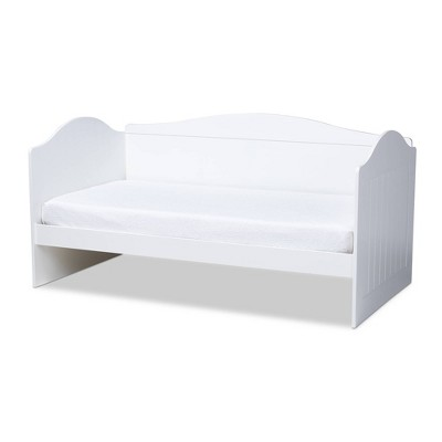 Twin Neves Wood Daybed White - Baxton Studio