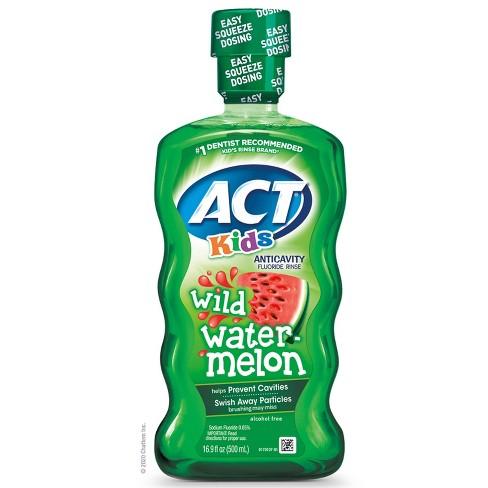 Act Kids Wild Watermelon Anticavity Fluoride Rinse - 16.9 fl oz - image 1 of 4