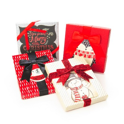 Paper Magic 4ct Red White Black Silver Gift Card Holder Target