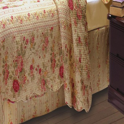 """Greenland Home Fashion Antique Rose Bed Skirt, 15"""" Multicolor"""