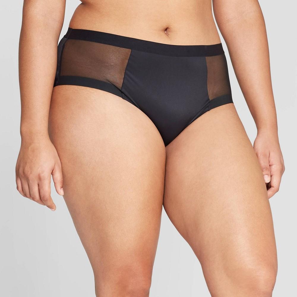 Women's High Waisted Briefs - Auden Black XL