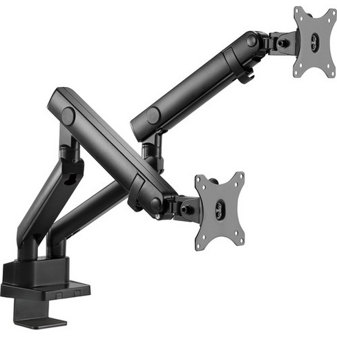 """SIIG Mounting Arm for Monitor - Black - 2 Display(s) Supported32"""" Screen Support - 35.20 lb Load Capacity - image 1 of 4"""