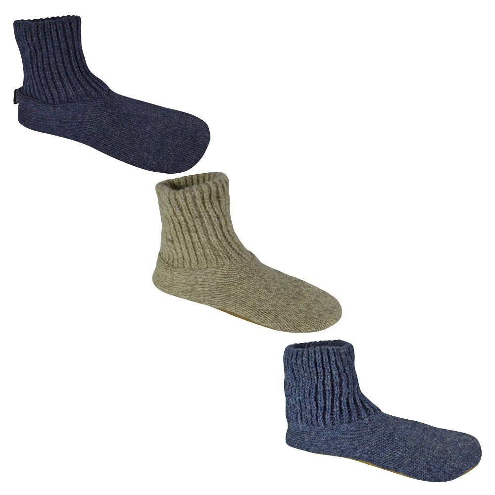 Image of Men's MUK LUKS Wool Slipper Socks - Blue L(10-11), Men's, Size: Large (10-11), Blue Blue