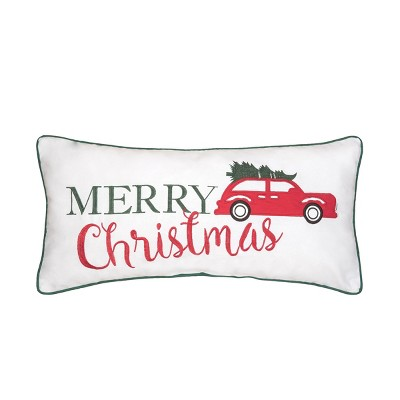 """C&F Home 12"""" x 24"""" Holiday Car Embroidered Pillow"""