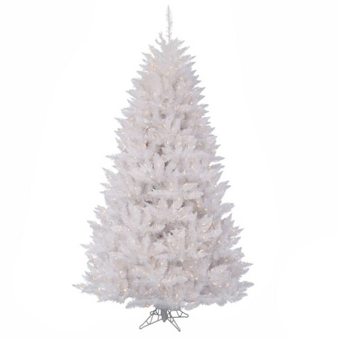 6.5ft Pre-Lit Artificial Christmas Tree Sparkle White Spruce - with 600 Clear Lights - image 1 of 1