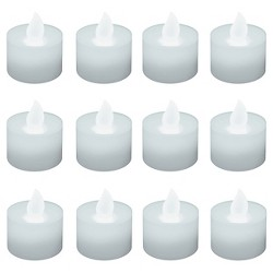 12ct Battery Operated LED Tea Lights White