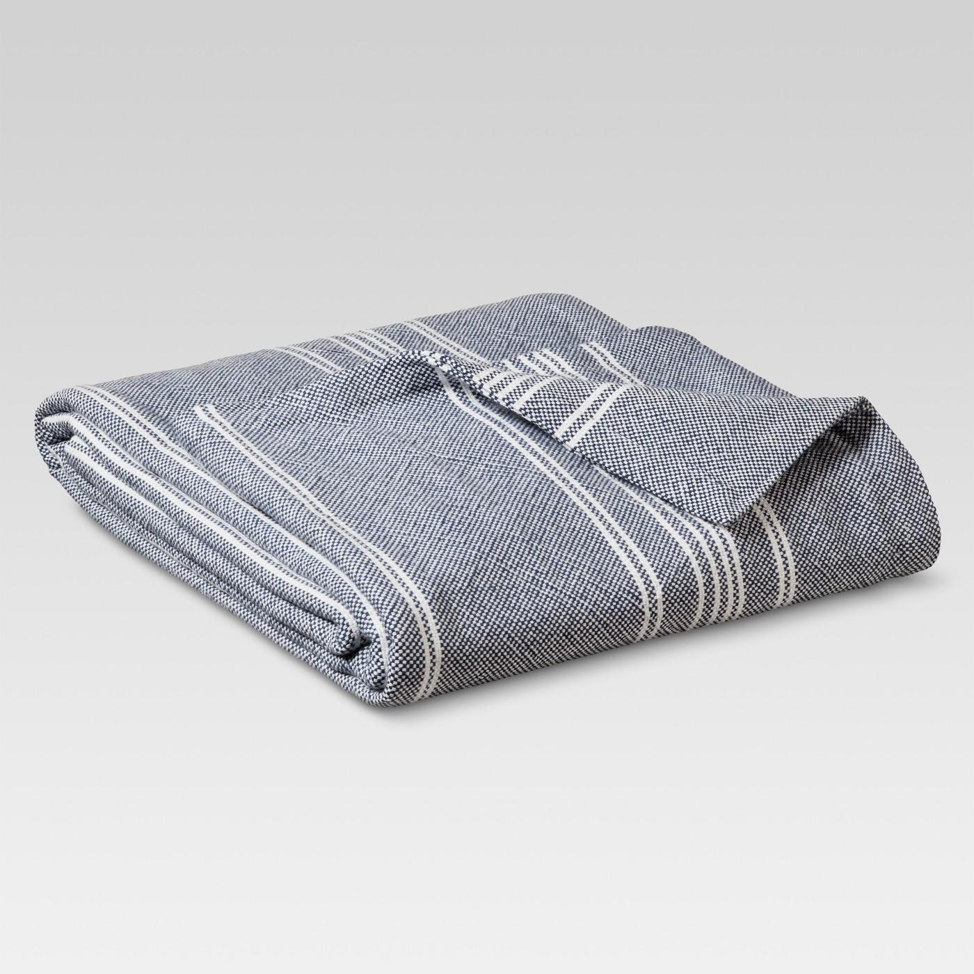 Yarn Dye Stripe Ringspun Cotton Blanket - Threshold™ - image 1 of 5