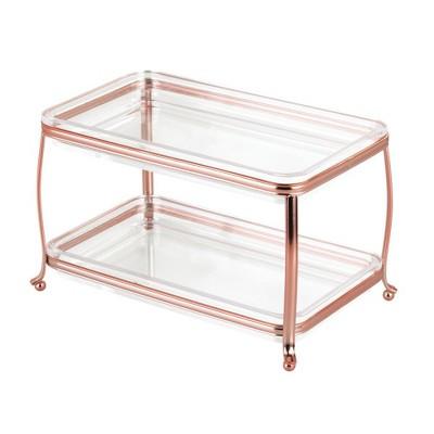 mDesignMakeup Storage Organizer Vanity Tray, 2 Level