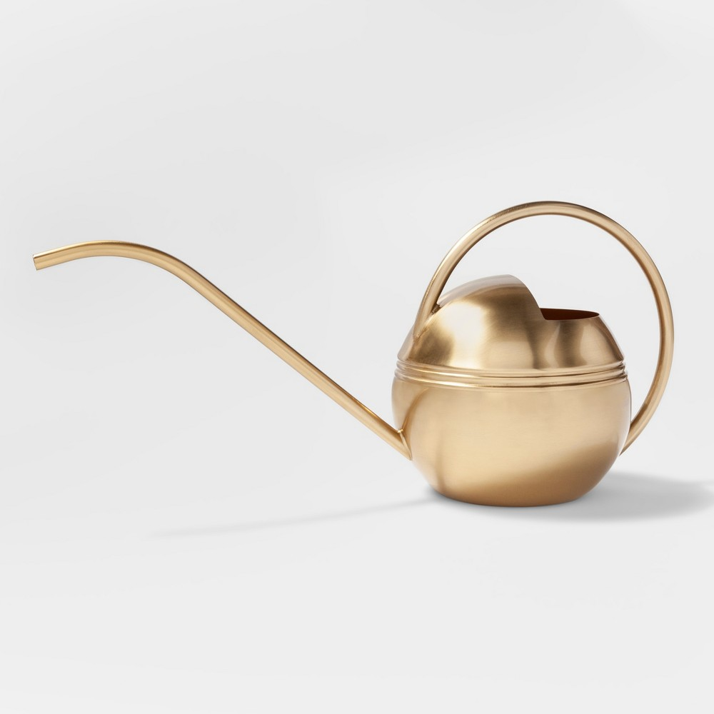 """Image of """"7.2"""""""" x 6"""""""" Stainless Steel Watering Can Gold - Smith & Hawken"""""""
