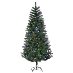 7.5ft Sterling Tree Company Pre-Lit Idaho Pine with Color Changing LED Lights with Remote Control Artificial Christmas Tree