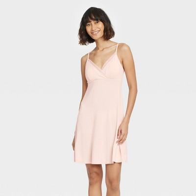 Women's Beautifully Soft Mesh Trim Nightgown - Stars Above™ Soft Pink L