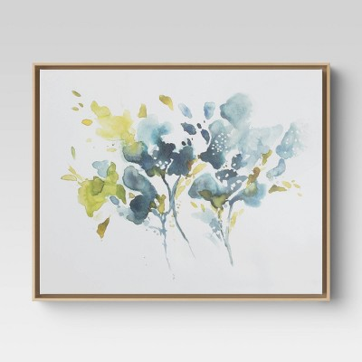"30"" x 24"" Flowers Framed Canvas - Threshold™"