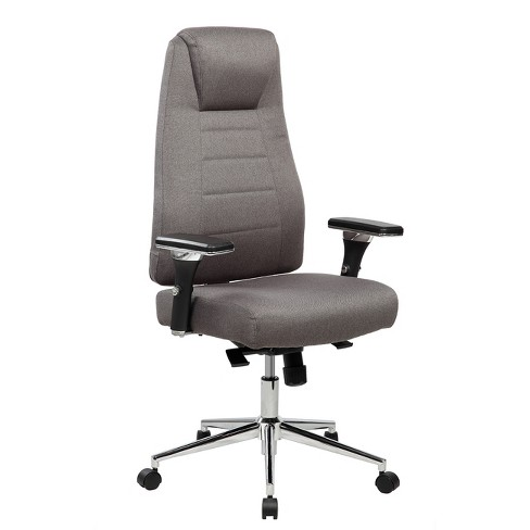 Comfy Height Adjustable Executive Home Office Chair with Wheels - Gray - Techni Mobili - image 1 of 6