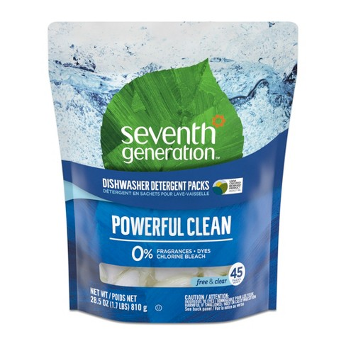 Seventh Generation Free & Clear Natural Dishwasher Detergent Packs - 45ct - image 1 of 4