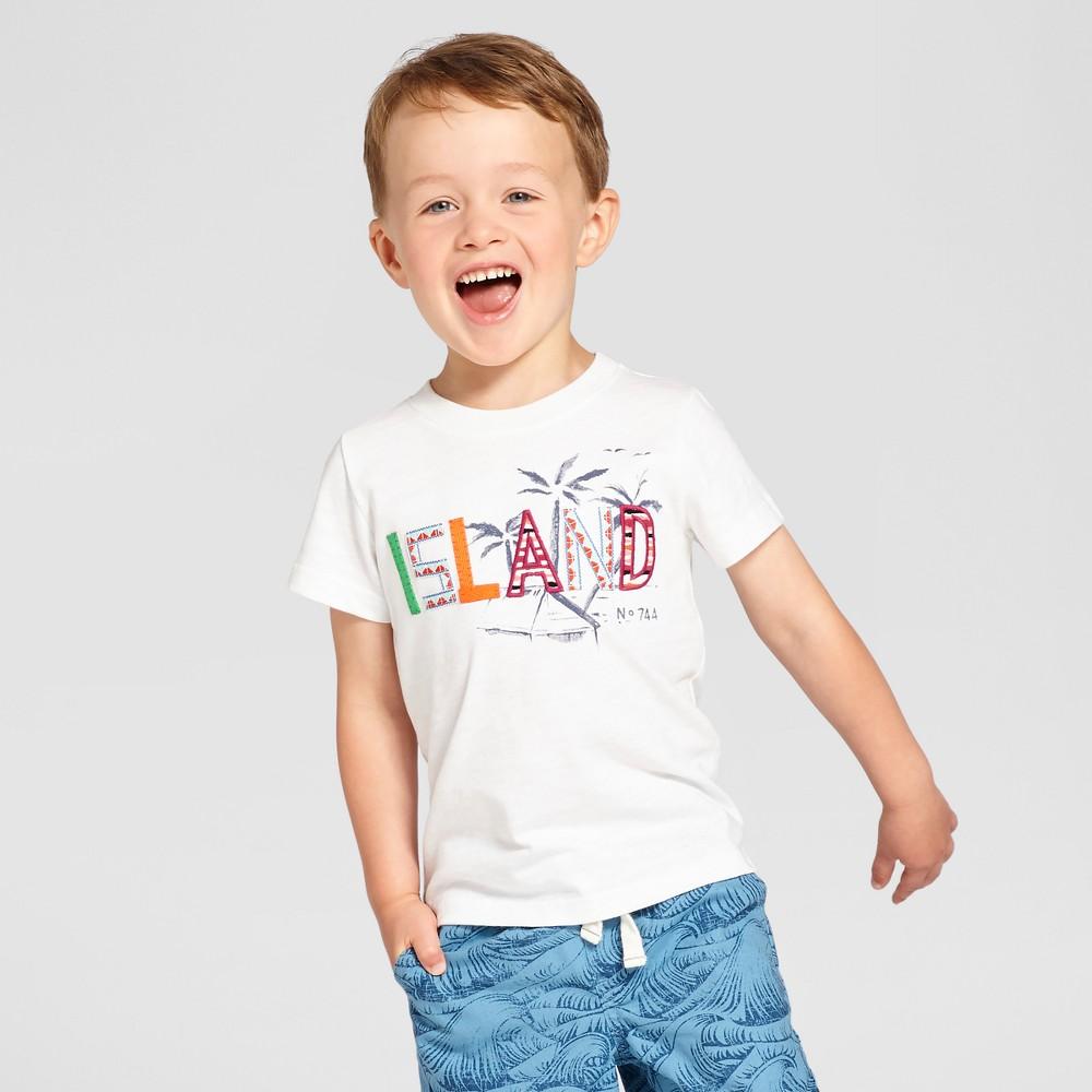 Toddler Boys' Crew Neck T-Shirt - Cat & Jack Eco White 5T