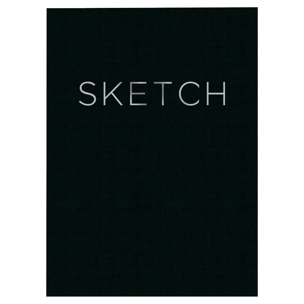 "Image of ""Blank Sketchbook 8""""x 11"""" Black- Piccadilly"""