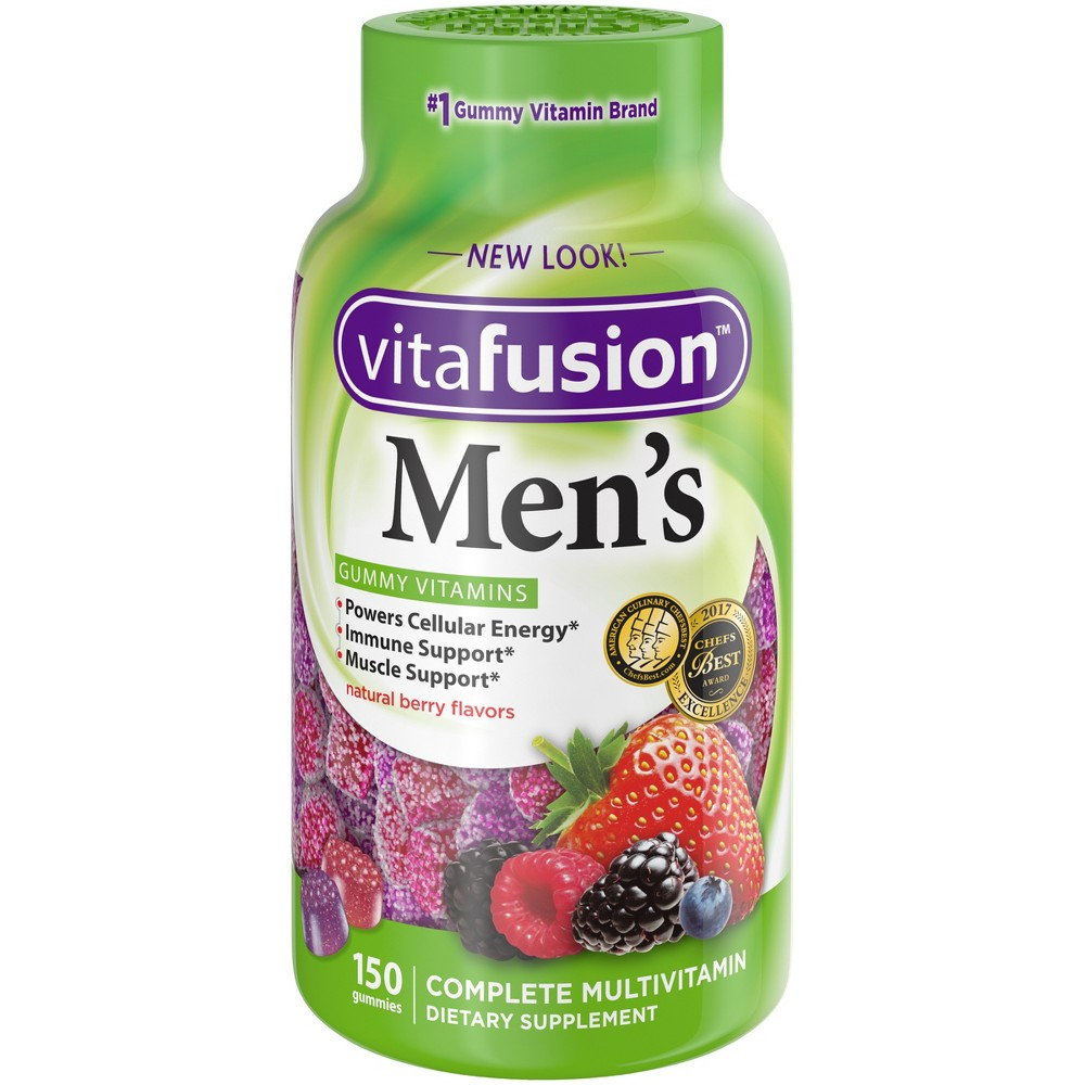 Vitafusion Men's Multivitamin Dietary Supplement Gummies - Berry - 150ct Vitafusion Men's Multivitamin Dietary Supplement Gummies - Berry - 150ct Size: 150 Count. Gender: Male. Age Group: Adult.