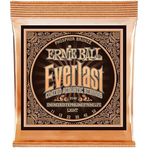 Ernie Ball 2548 Everlast Phosphor Light Acoustic Guitar Strings - image 1 of 2