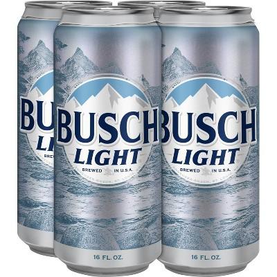 Busch Light Beer - 4pk/16 fl oz Cans