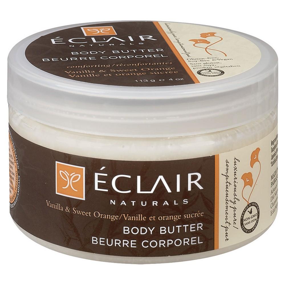 Eclair Naturals Body Butter Vanilla & Sweet Orange 4 oz