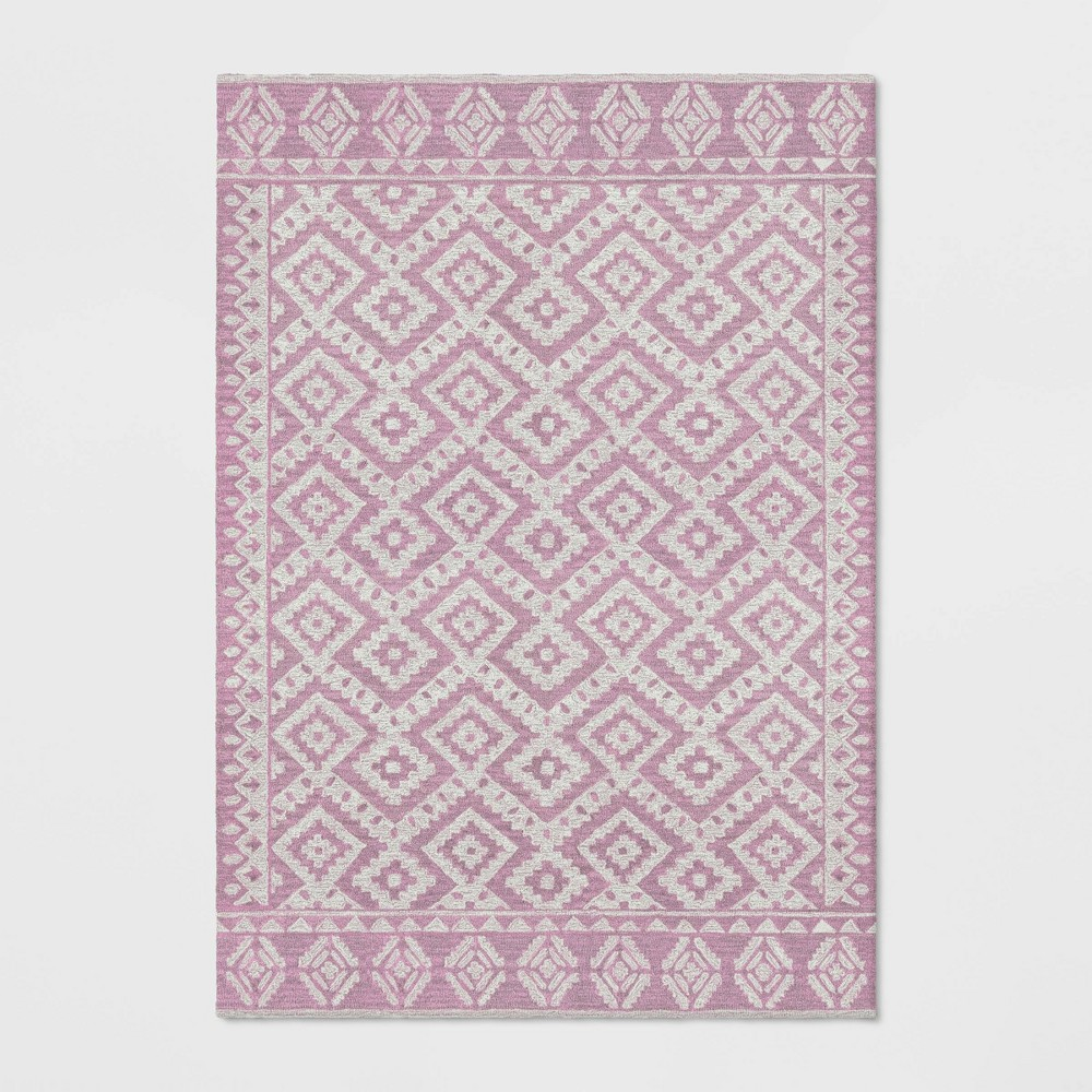 7'X10' Jacamar Tribal Design Tufted Area Rug Blush Pink - Opalhouse was $349.99 now $174.99 (50.0% off)