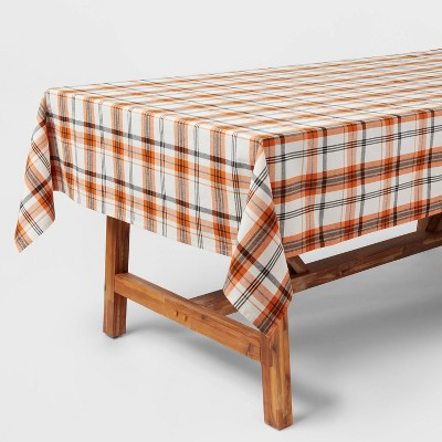 "84"" x 60"" Cotton Plaid Tablecloth - Threshold™"