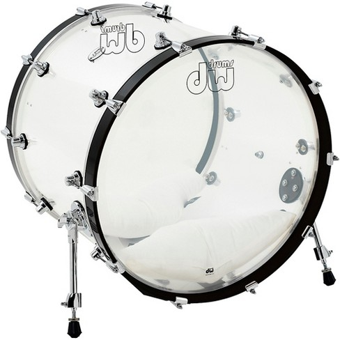 DW Design Series Acrylic Bass Drum with Chrome Hardware 22 x 18 in. Clear - image 1 of 1