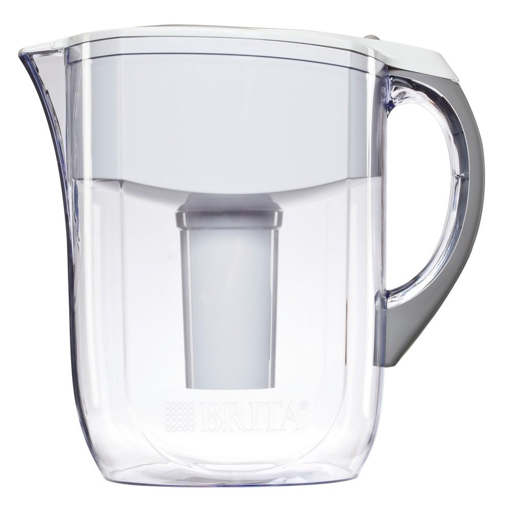 Brita Grand 10 Cup Water Pitcher - White, Clear
