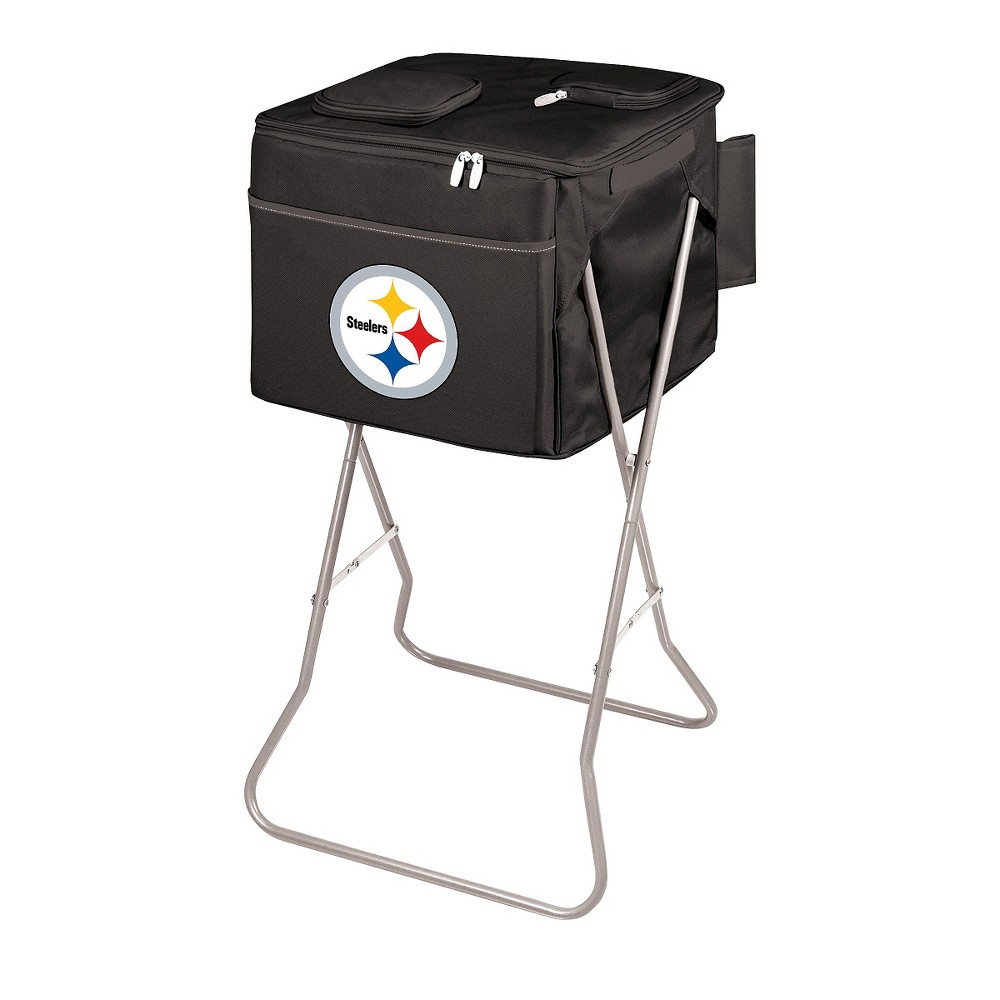 Pittsburgh Steelers - Party Cube Portable Standing Cooler by Picnic Time (Black)