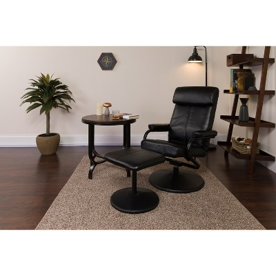 Flash Furniture Contemporary Multi-Position Headrest Recliner and Ottoman with Wrapped Base