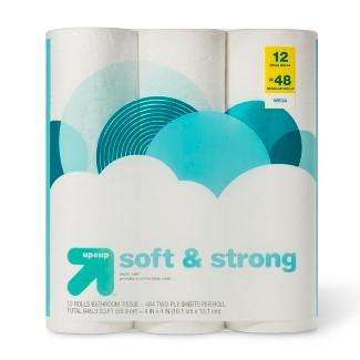 Soft & Strong Septic Safe Toilet Paper - 12 Mega Rolls - Up&Up™