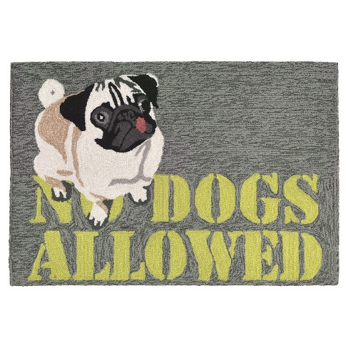 Frontporch No Dogs Allowed Gray Rug - Liora Manne - image 1 of 1