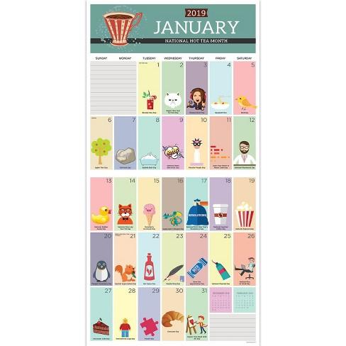 2019 Wall Calendar Daily Holidays Tf Publishing Target