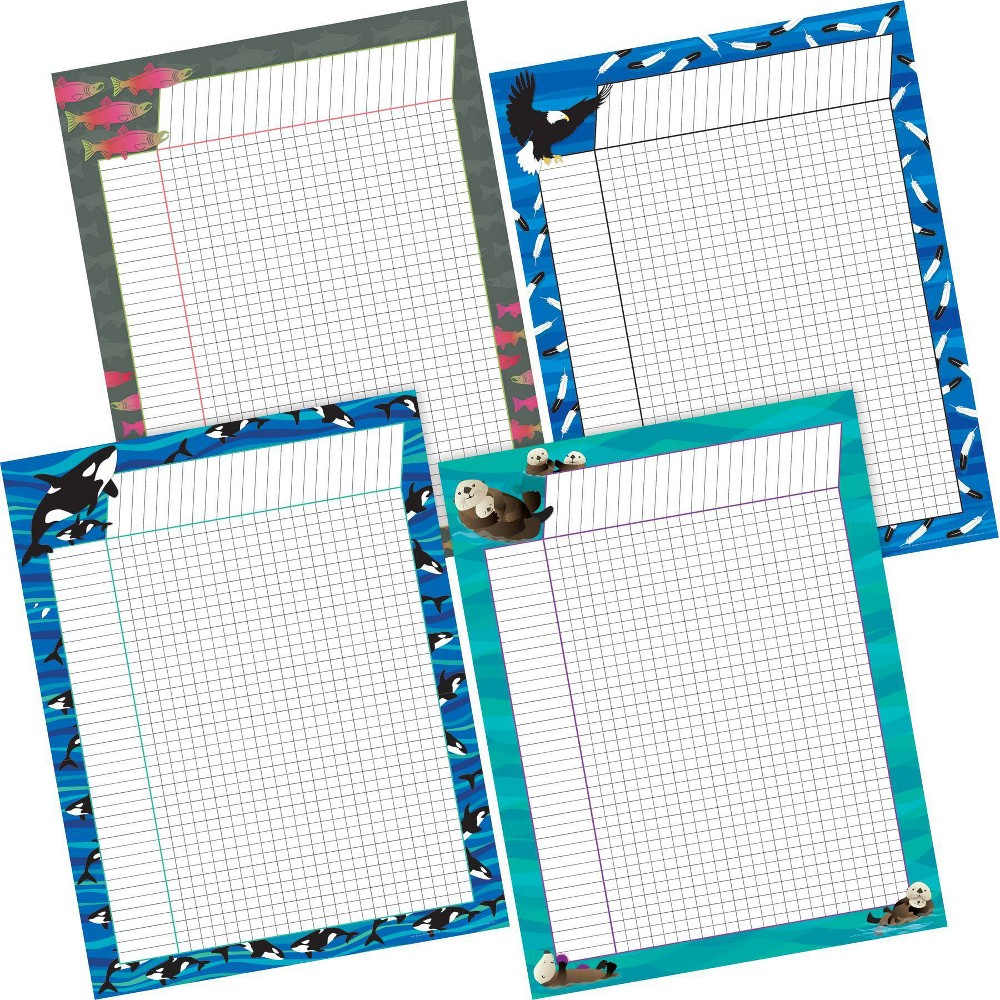 Image of Barker Creek 4pc Sea and Sky Incentive Chart Set