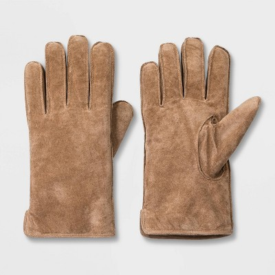 Men's Pig Suede Sherpa Lined Gloves - Goodfellow & Co™ Tan