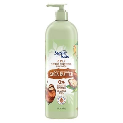Suave Kids' 100% Natural Shea Butter 3-in-1 Shampoo + Conditioner & Body Wash - 20 fl oz