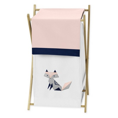 26.5  x 15.5  Fox Patch Laundry Hamper - Sweet Jojo Designs