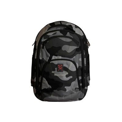 Odyssey BPBACKTRAKXLGYC Extra Large Backtrak Digital Tech Gear DJ Laptop Travel Backpack Bag with Padded Compartments and Straps, Gray Camouflage