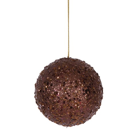 "Vickerman 4.75"" Holographic Glittered Christmas Ball Ornament - Brown - image 1 of 1"