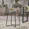 Alder Steel Modern Patio Side Table Gray - Christopher Knight Home - image 2 of 4
