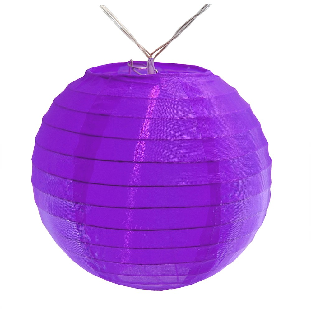 Image of 10ct Nylon LED Battery Powered String Lights Purple